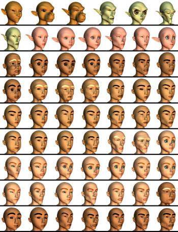 Hitoro Face Examples